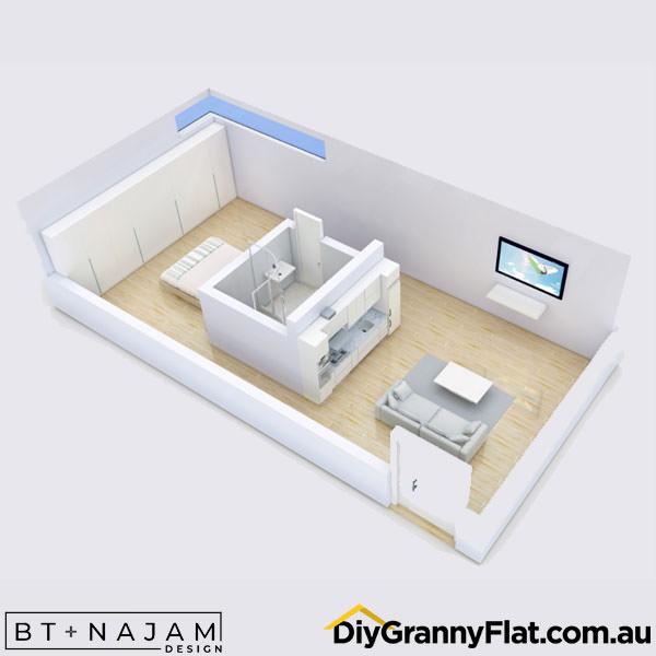 studio granny flat design