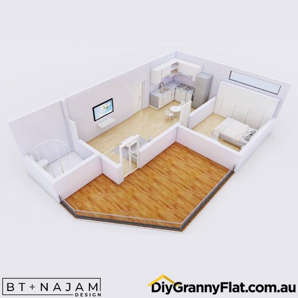 large deck on granny flat