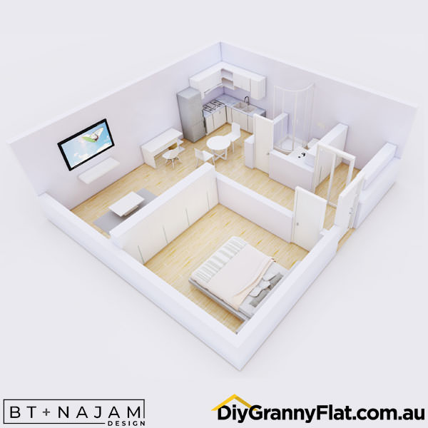 large one bedroom granny flat
