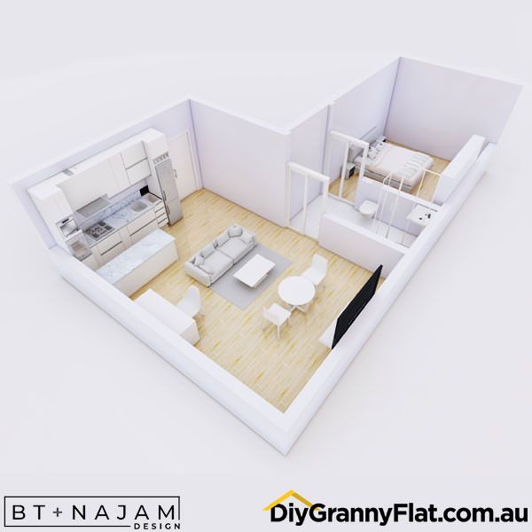 unusual one bedroom granny flat
