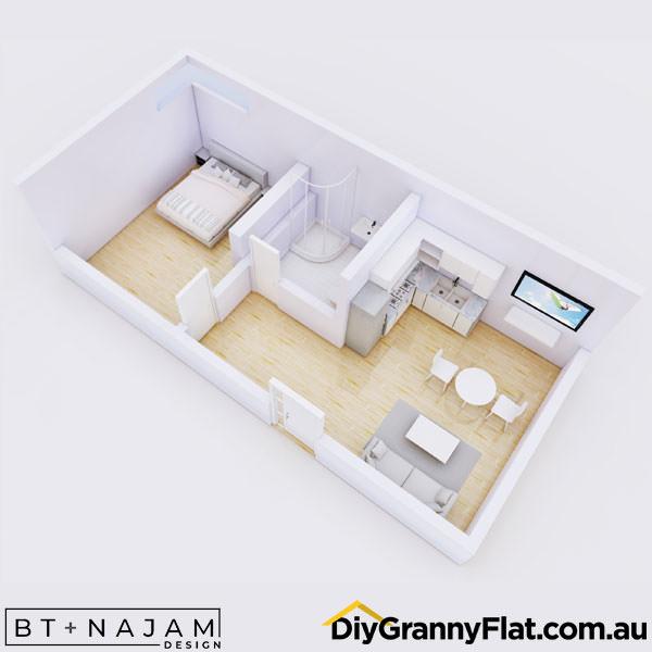 simple one bedroom granny flat