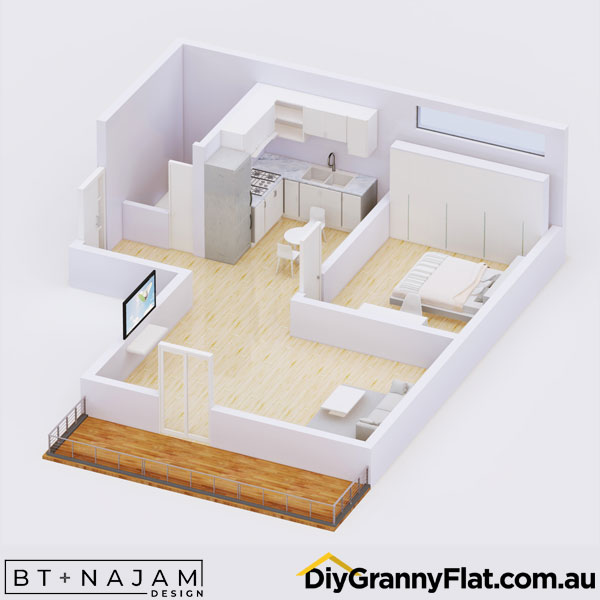granny flat with deck