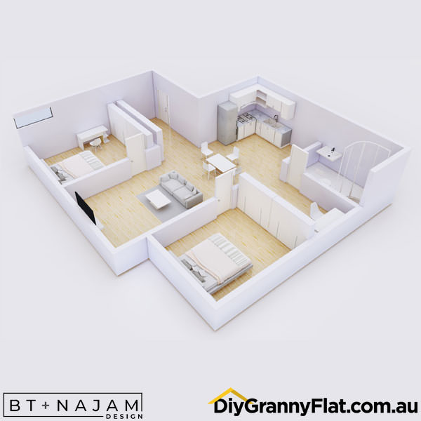 unusual granny flat design