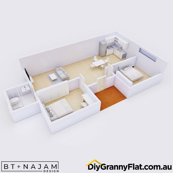 2 bedroom architecturally designed granny flat