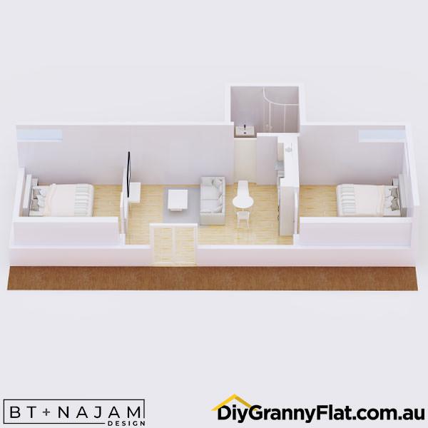 narrow granny flat