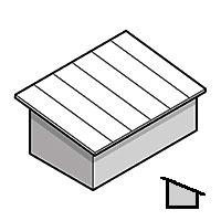 granny flat skillion roof