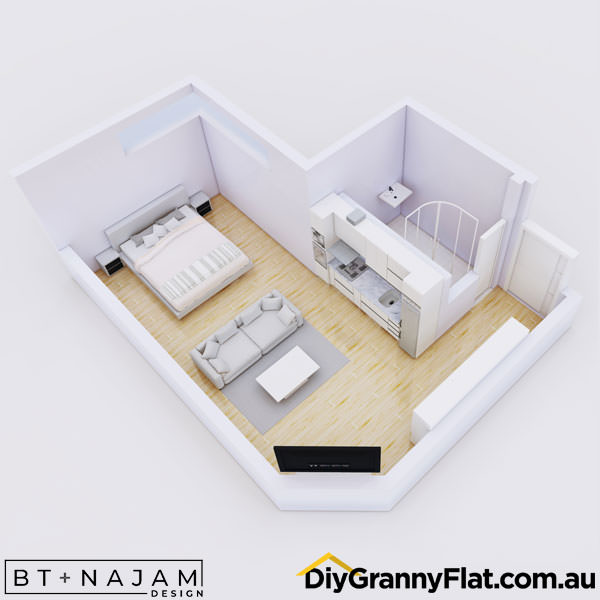 unique layout studio granny flat