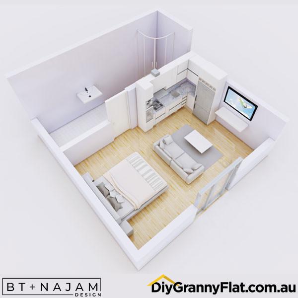40sqm granny flat